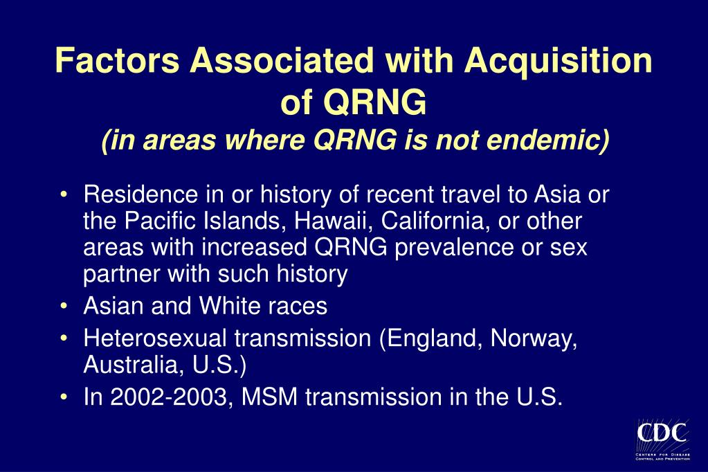 Factors Associated with Acquisition of QRNG