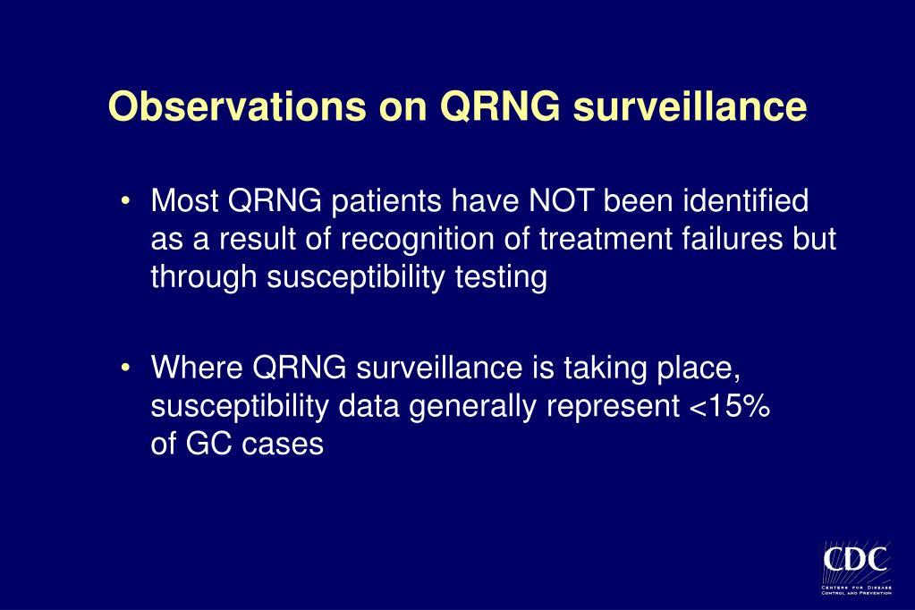 Observations on QRNG surveillance