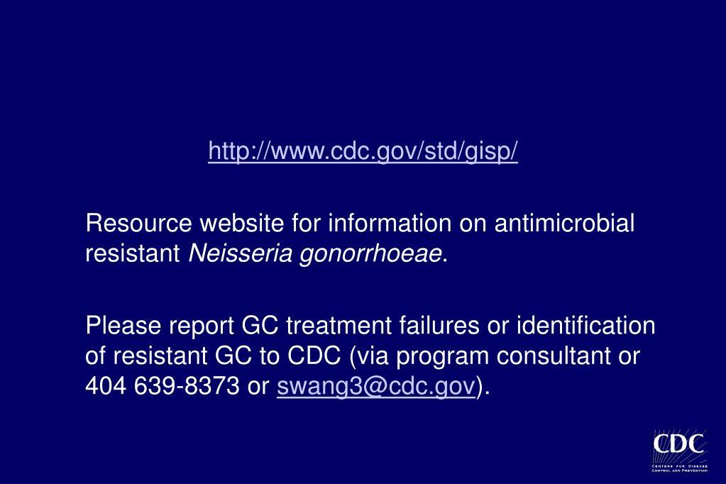 http://www.cdc.gov/std/gisp/