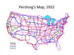 pershing s map 1922