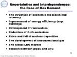 uncertainties and interdependences the case of gas demand