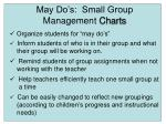 may do s small group management charts