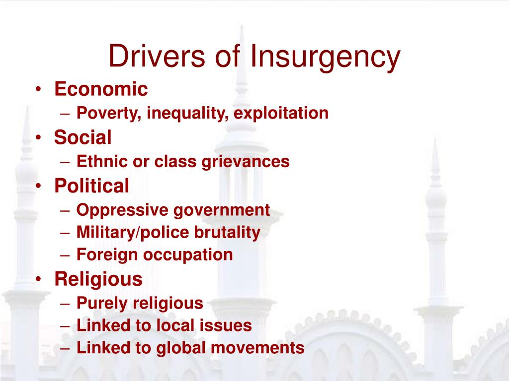 Drivers of Insurgency
