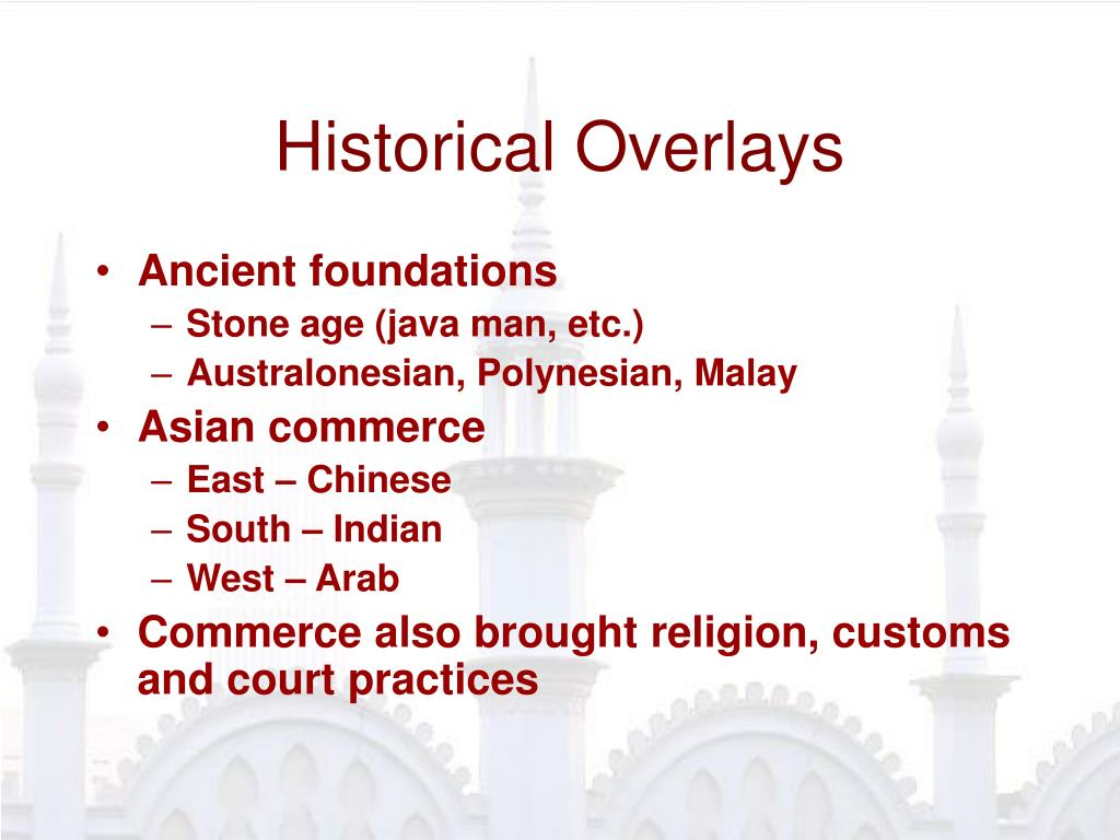 Historical Overlays