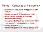 moros centuries of insurgency