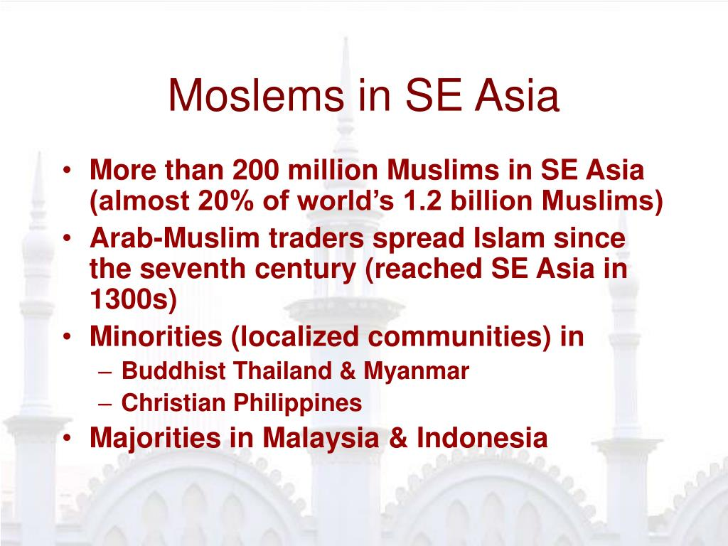 Moslems in SE Asia