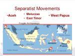 separatist movements
