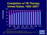 completion of tb therapy united states 1993 2007