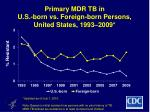 primary mdr tb in u s born vs foreign born persons united states 1993 2009