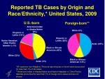 reported tb cases by origin and race ethnicity united states 2009