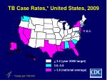 tb case rates united states 2009