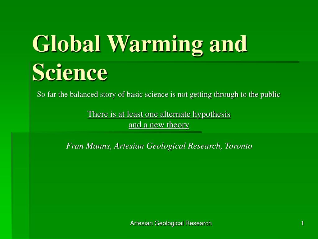 global warming and science l.