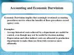accounting and economic darwinism