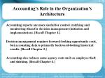 accounting s role in the organization s architecture