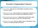 executive compensation contracts