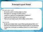 principal agent model