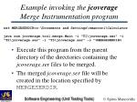 example invoking the jcoverage merge instrumentation program
