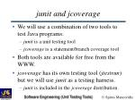junit and jcoverage