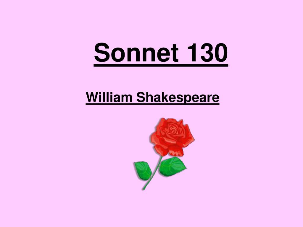 sonnet 130 l.