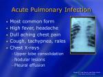 acute pulmonary infection