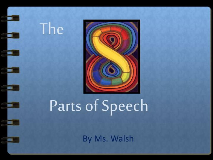 the parts of speech n.
