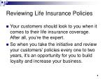 reviewing life insurance policies