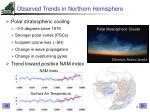 observed trends in northern hemisphere