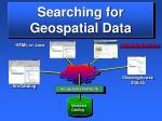 searching for geospatial data