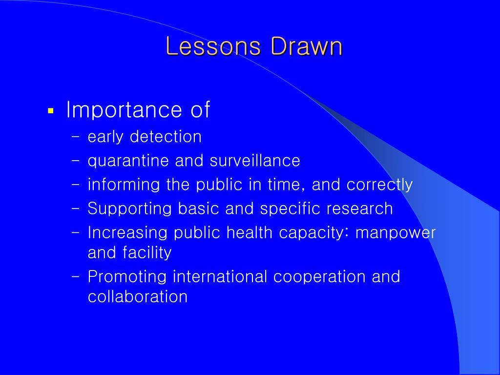 Lessons Drawn