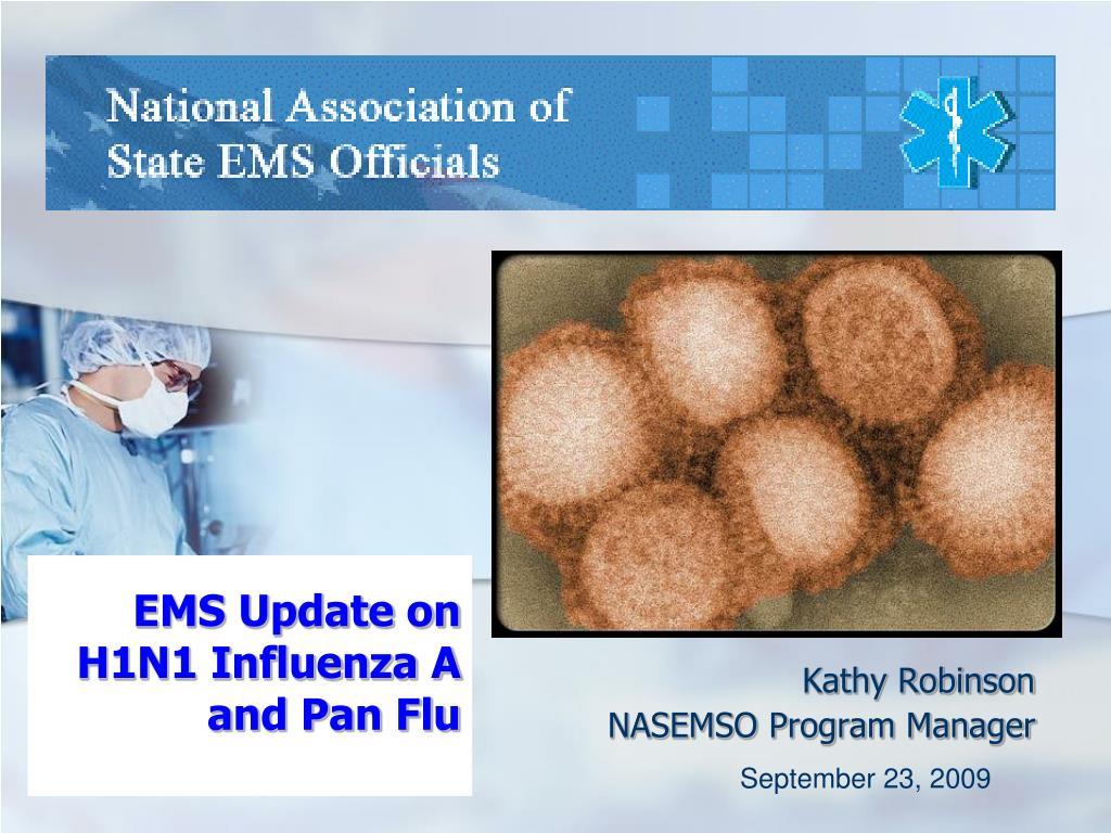 ems update on h1n1 influenza a and pan flu l.