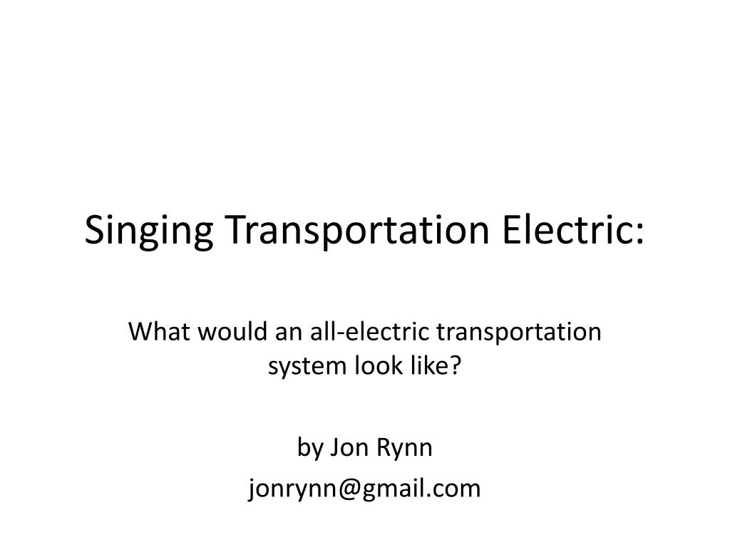 singing transportation electric l.