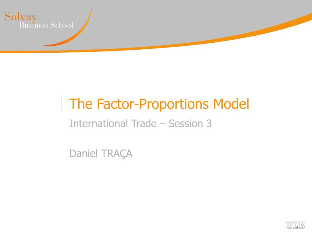 the factor proportions model l.