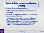 patient rule induction method prim