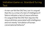 imitation game vs standard turing test