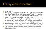 theory of functionalism33
