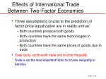 effects of international trade between two factor economies28