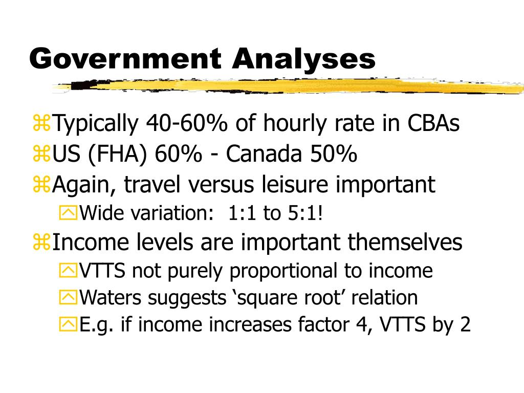 Government Analyses