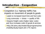 introduction congestion