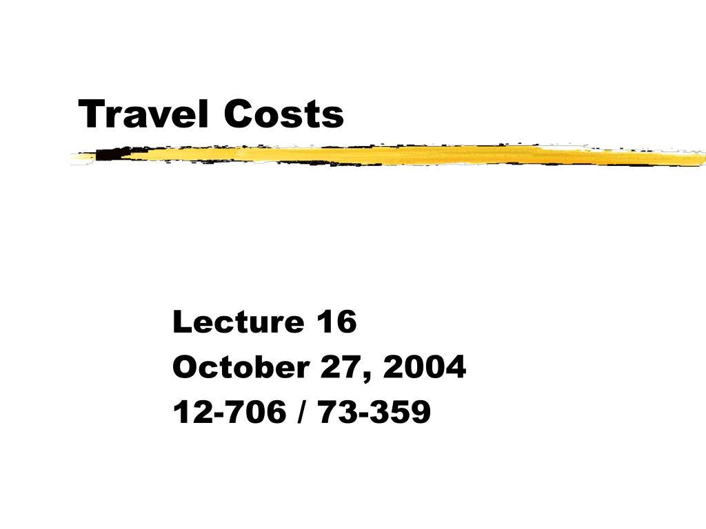 travel costs l.