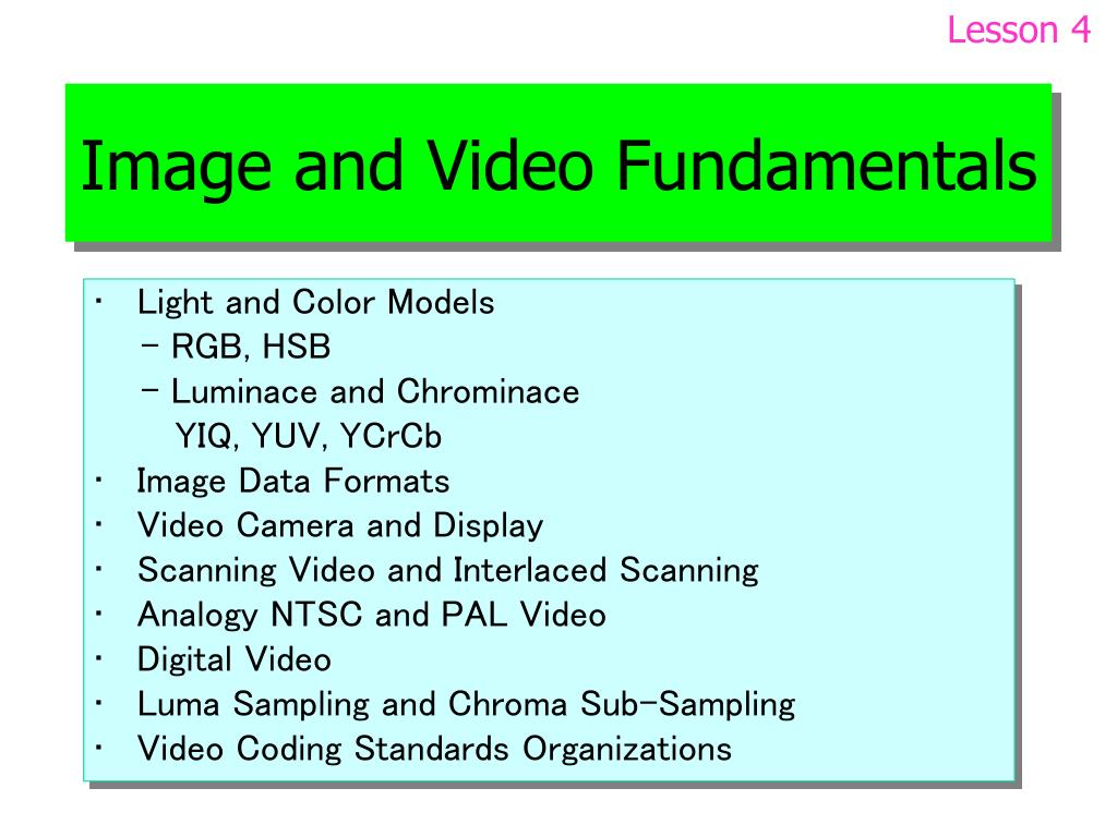 image and video fundamentals l.