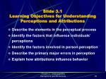 slide 3 1 learning objectives for understanding perceptions and attributions