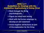 slide 3 11 guidelines for dealing with the attribution implications of being fired