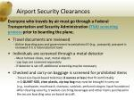 airport security clearances
