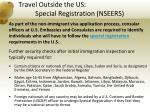 travel outside the us special registration nseers