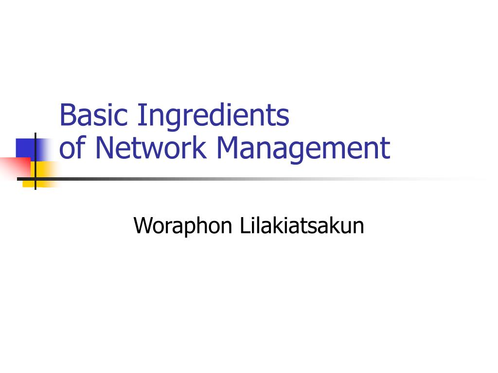 basic ingredients of network management l.