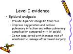 level i evidence