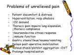 problems of unrelieved pain