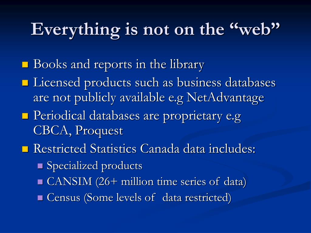 """Everything is not on the """"web"""""""