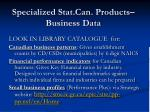 specialized stat can products business data