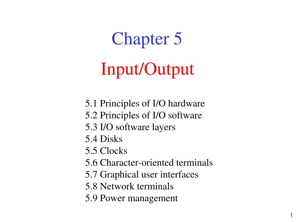 input output l.